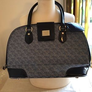 Like New Large Navy and light blue travel bag